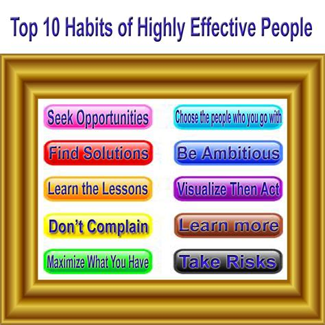 Top 10 Habits Of Highly Effective People  Life Then Finance