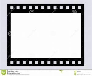 Blank B W Film Frame Stock Illustration