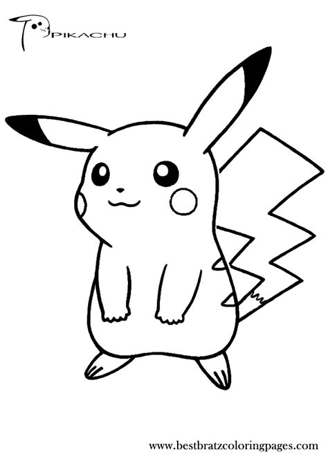 Free Coloring Pages by Pikachu Coloring Pages To And Print For Free