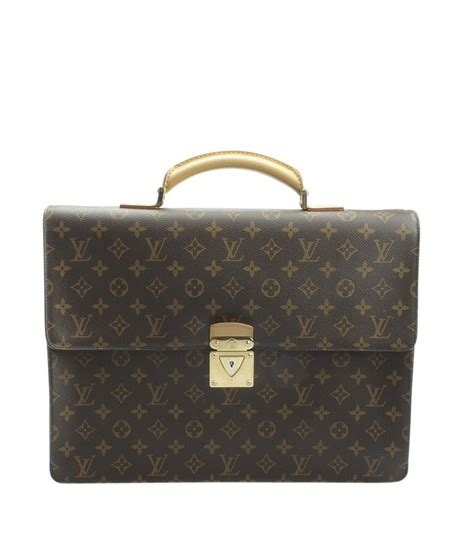 louis vuitton robusto monogram briefcase  brown