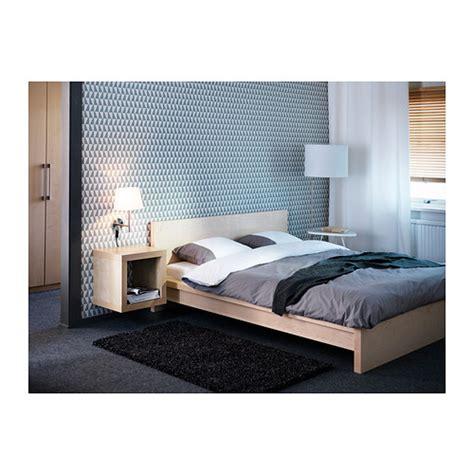 malm low bed кровать двуспальная 160х200 см беленый дуб партия 1