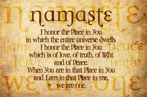 """The Meaning Of """"namaste"""""""