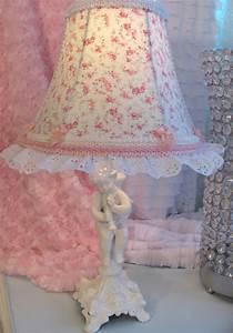 Was Ist Shabby Chic : 7 lamp shade r ashwell blue pink roses shabby chic fabric girl baby nursery ebay ~ Orissabook.com Haus und Dekorationen