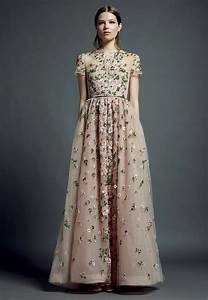 valentino floral embroidered gowns With floral embroidered wedding dress