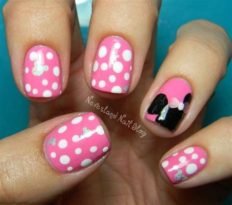 Minnie nails | Disney Trip 2014 | Pinterest | Disney Minnie mouse pink and So cute