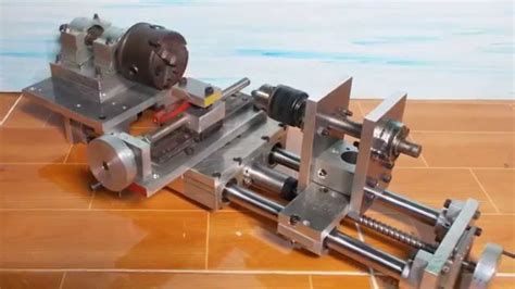 diy cheap mini lathe axis tailstock lathe home  router