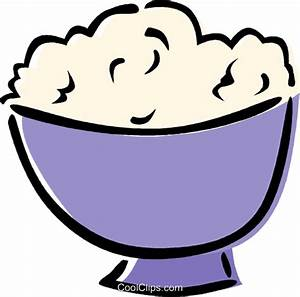 mashed potatoes Royalty Free Vector Clip Art illustration ...