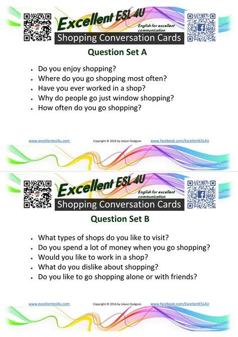 esl shopping conversation