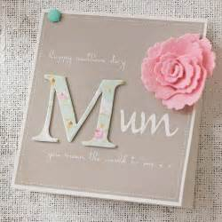 cheap mothers day gift ideas personalised felt flower 39 s day card