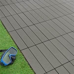 Dalle Terrasse Clipsable : dalle terrasse composite clipsable gris 30 x 30 cm ~ Melissatoandfro.com Idées de Décoration