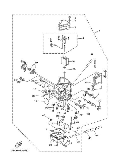 yamaha warrior 350 carburetor diagram diagram schematic
