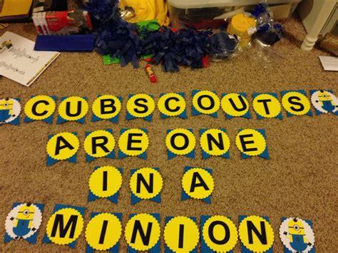 cub scout     minion