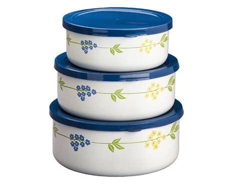 6-pc Corelle Nesting Metal Storage Bowl Set & Plastic
