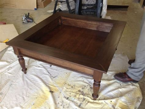 build glass top shadow box coffee table shadow