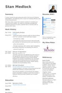 quality analyst resume format quality analyst resume sles visualcv resume sles database