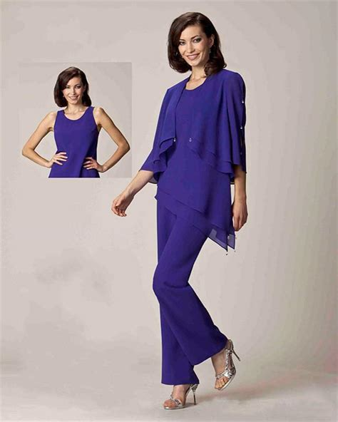 robe mere dela mariee pour mariage intime 2016 fashion three pieces chiffon of the