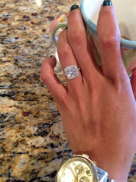 cusion cut ring ideal engagement rings we how to do it