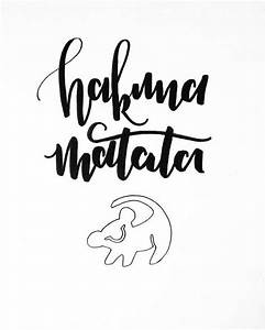 items similar to the lion king hakuna matata original With hakuna matata lettering