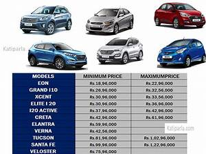 LIST OF HYUNDAI CAR MADE AVAILABLE IN NEPAL AND THEIR UPDATED PRICE LIST Nepal Price list