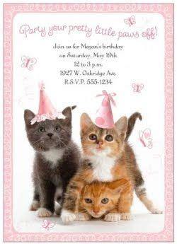 orange tabby cat themed birthday party kitten