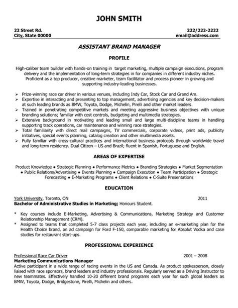 Branding Your Resume Sles by Assistant Brand Manager Resume Template Premium Resume Sles Exle
