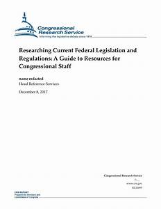 Researching Current Federal Legislation And Regulations  A
