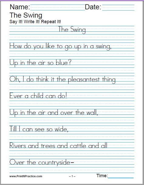 handwriting worksheet ks handwriting
