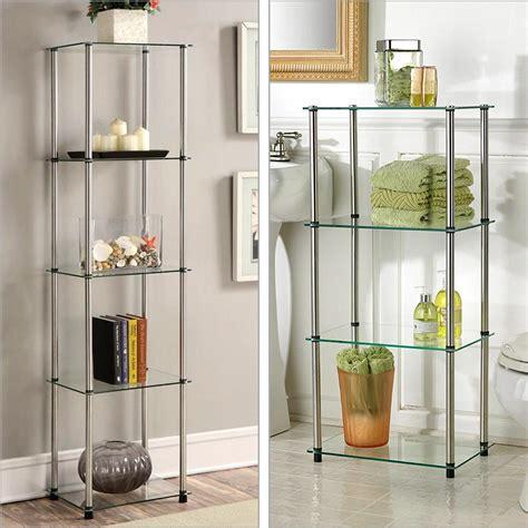 Glass Bookcase Shelves by Convenience Concepts Designs2go Go Accsense 3