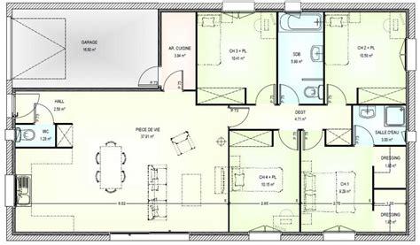 maison plain pied 5 chambres plan de maison 5 chambres plain pied