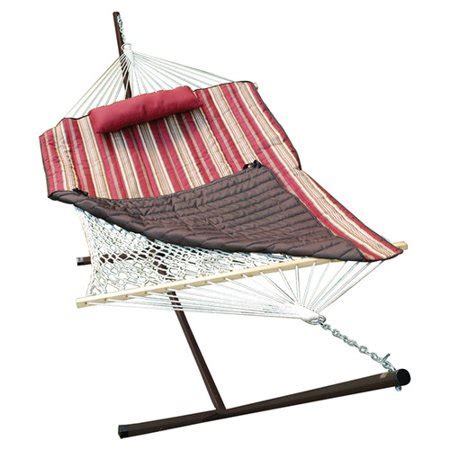 Cotton Rope Hammock With Stand by Algoma Net Company 4 Rope Cotton Hammock With Stand