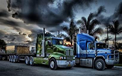 Truck Trucks Semi Rig Trailer Wheeler Kenworth