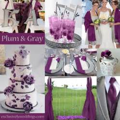 plum wedding colors plum and gray wedding colors