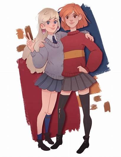Luna Harry Ginny Potter Hermione Weasley Fan