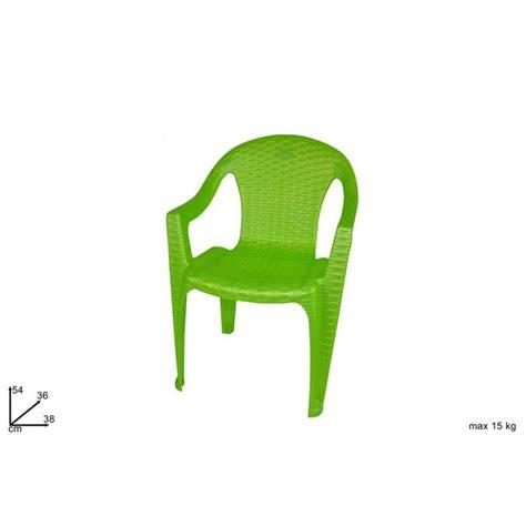 sedie per bimbi sedia bimbi plastica tipo rattan verde