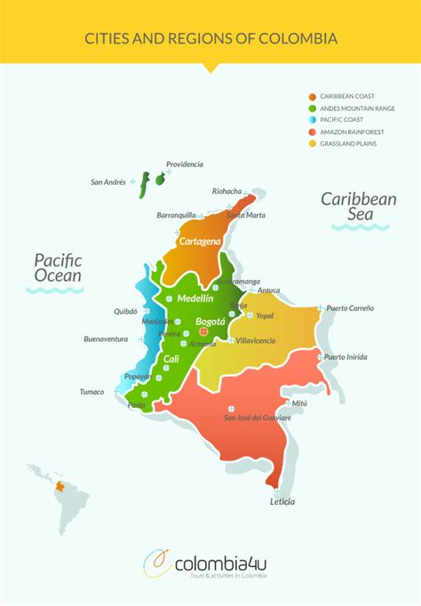 map cities  regions  colombia