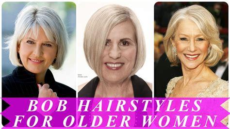 Best bob hairstyles for older women YouTube