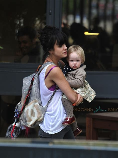 lily allen   london  daughter marnie rose cooper