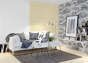 la tendance mix and match blog au fil des couleurs With couleur pour un salon 2 papiers peints pour une chambre scandinave blog au fil