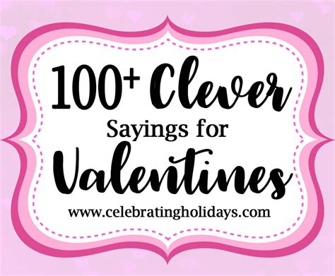 Valentine Clever Sayings for Candy and Treat | Celebrating ...