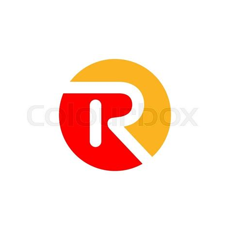 abstract letter r logo design template vector letter symbol stock vector colourbox