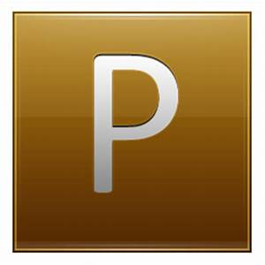 letter p gold icon multipurpose alphabet iconset With letter p gold