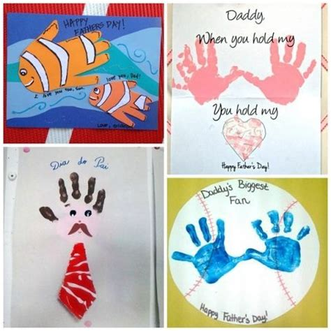 s day handprint card ideas fathers day handprint craft ideas from crafts for