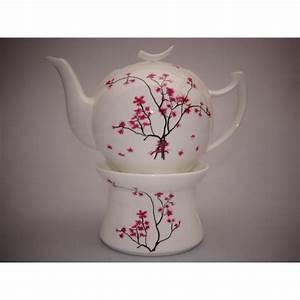 Teekanne Weiß Porzellan : teekanne cherry blossom kirschbl te mit st vchen wei ~ Michelbontemps.com Haus und Dekorationen