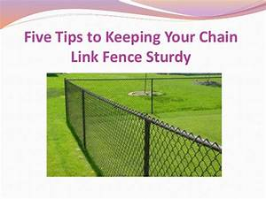 Five Tips to Keeping Your Chain Link Fence Sturdy