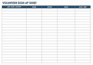 free sign in and sign up sheet templates smartsheet With volunteer sign up form template