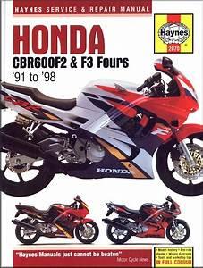 Honda Cbr600f2  Cbr600 F3 Repair Manual 1991