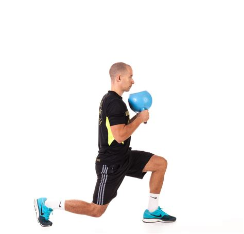 reverse kettlebell lunge exercise fitness workout
