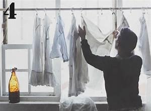 Kleider Aufhängen Stange : mit einer gardinenstange und ein paar haken kannst du kleidung im fenster zum trocknen aufh ngen ~ Michelbontemps.com Haus und Dekorationen