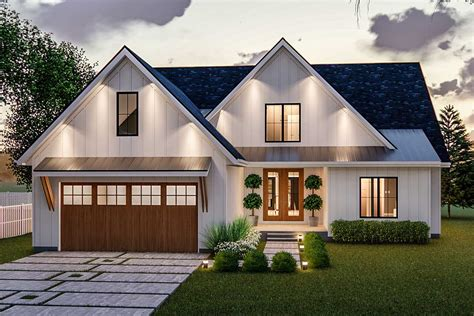 Exclusive Modern Farmhouse Plan Offering Convenient Living
