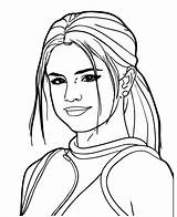 Coloring Pages Selena Gomez Famous Drawing Outline Portraits Printable Ariana Grande Drawings Adult Celebrity Portrait Self Teenagers Draw Az Easy sketch template